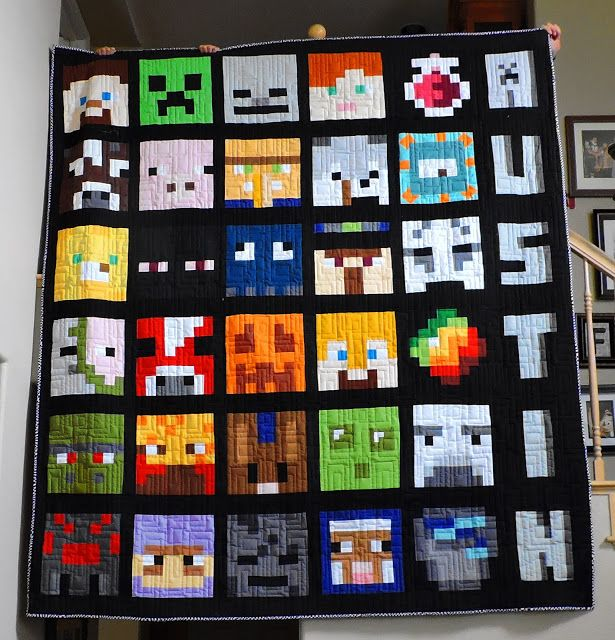 Minecraft quilt sewalong finished!