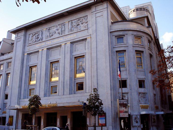 Théâtre des Champs-Elysées, ( Auguste Perret, 1906-13), Avenue Montaigne 13-15…