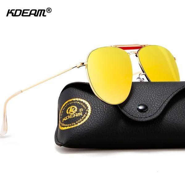 e9b9489e0d5 KDEAM Brand UV400 Rating Pilot Sunglasses Women Fashion Design Twin-bridge  Flash Unisex KD359  Discounts  BestPrice