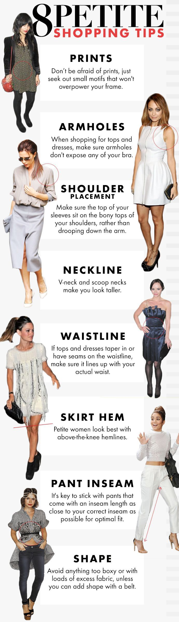 8 Petite Shopping Tips: How To Shop For Petite Clothes with example looks from your favorite stars!