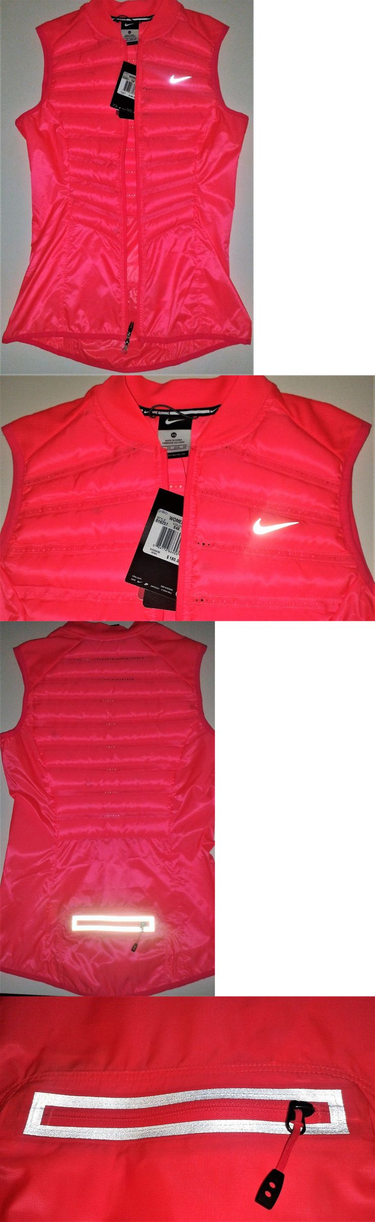Jackets and Vests 59285: Nike Womens Aeroloft 800 Fill Down Running Vest Size Xs Hyper Punch Neon Pink -> BUY IT NOW ONLY: $70.44 on eBay!