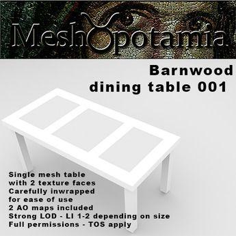 Meshopotamia Barnwood Table 001 w AO texture