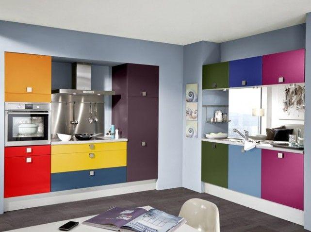 Meubles facade multicolore