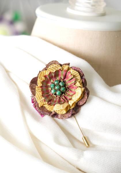 Floral Boutonniere Pin by Rosy Posy Designs