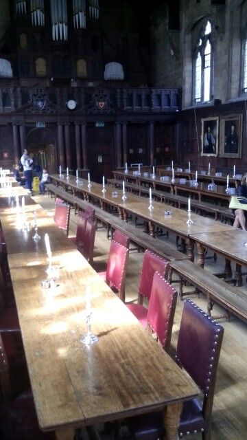 Balliol college (1263) students get to dine in style and the hall has a certain Hogwarths feel to it too!
