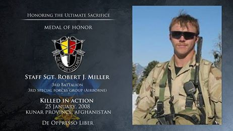 #3rdSpecialForcesGroupAirborne ......  Today we honor the fallen. Staff Sergeant Robert J. Miller was killed in action January 25, 2008 in Afghanistan. Follow the link to read his story. http://www.soc.mil/Memorial%20Wall/Bios/Miller_Robert.pdf