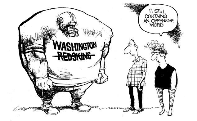 Bill Bramhall Editorial Cartoon about The Washington Redskins For June 23, 2014