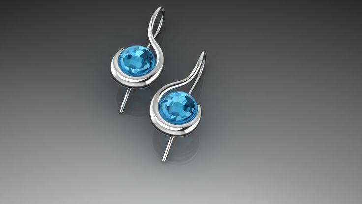 Whitegold with Topaz Made for customer by Marleen van Kempen