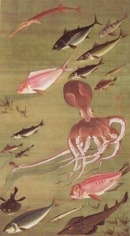 Fish - Itō Jakuchū