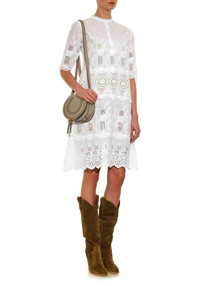 Kiki broderie-anglaise cotton dress | Queene and Belle | MATCHESFASHION.COM US