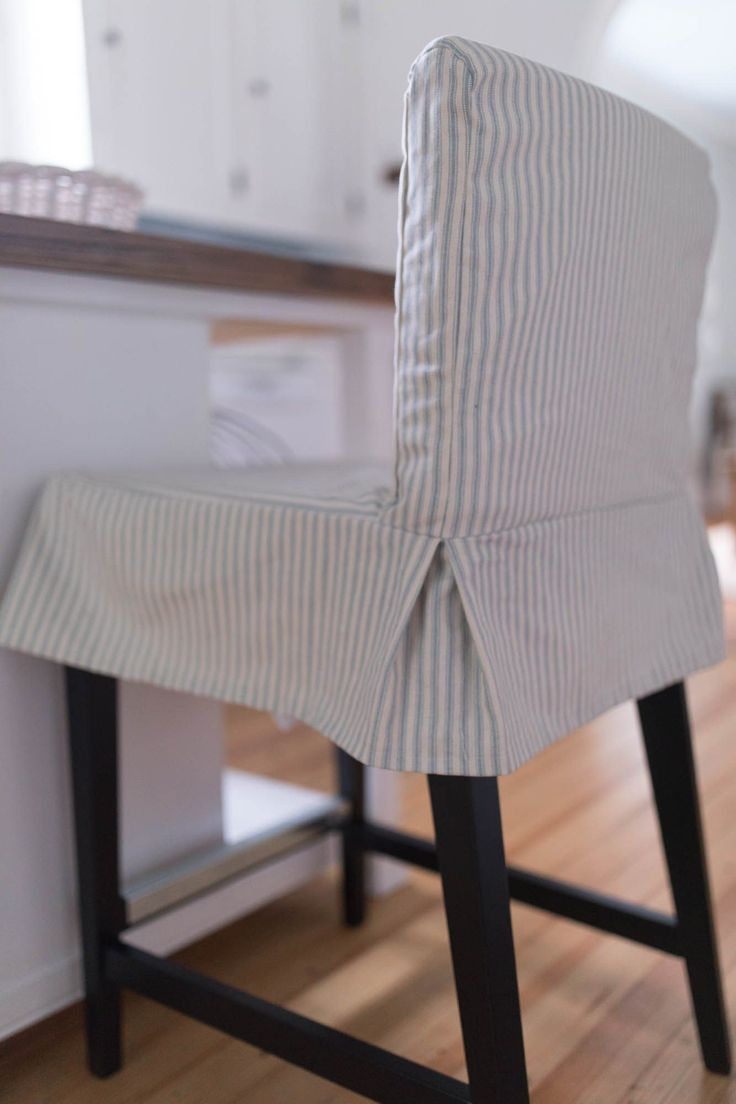 slip cover bar stool chair Google Search Slipcovers