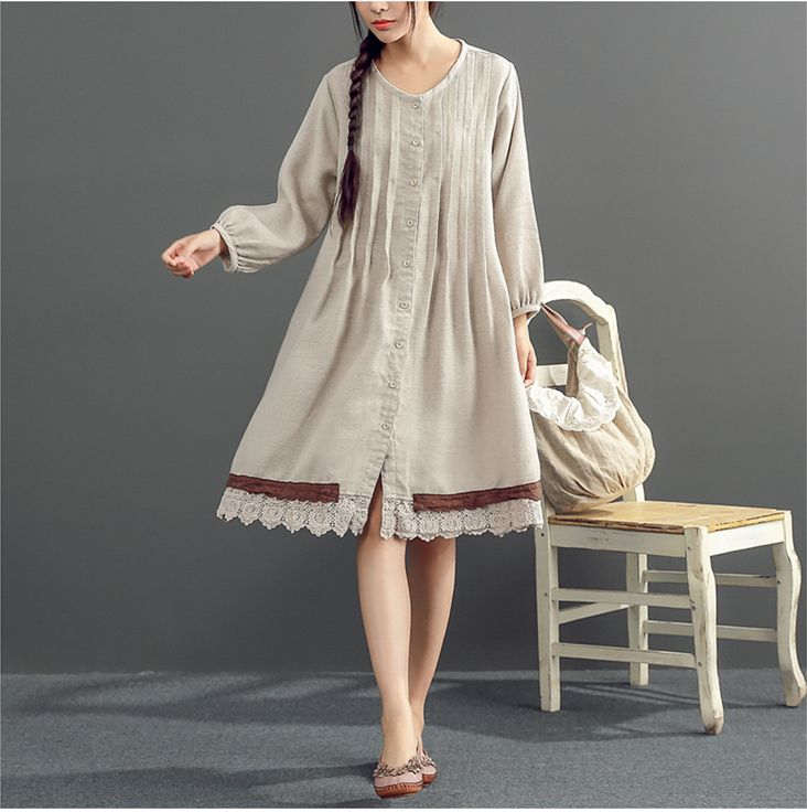 Long sleeve spring and autumn dress