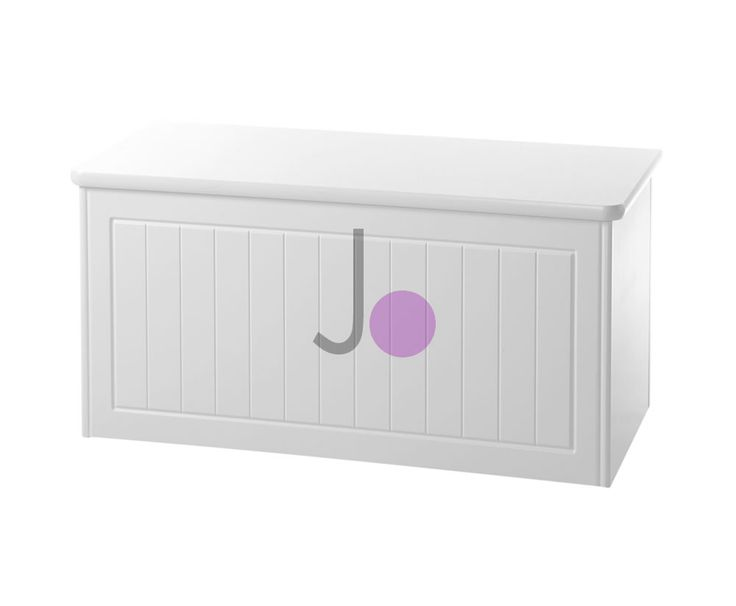 Warwick White Wooden Blanket Box - FREE UK Delivery