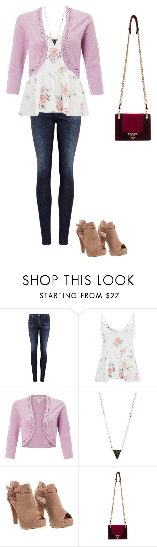 Casual Date Night??? by skylarmuffin on Polyvore featuring Monsoon, AG Adriano Goldschmied, Prada and Lana
