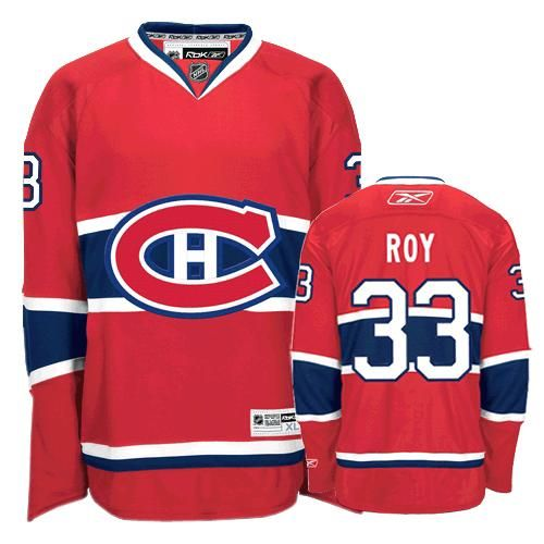 Patrick Roy Jersey-Buy 100% official Reebok Patrick Roy Men's Authentic Red Jersey NHL Montreal Canadiens #33 Home Free Shipping.