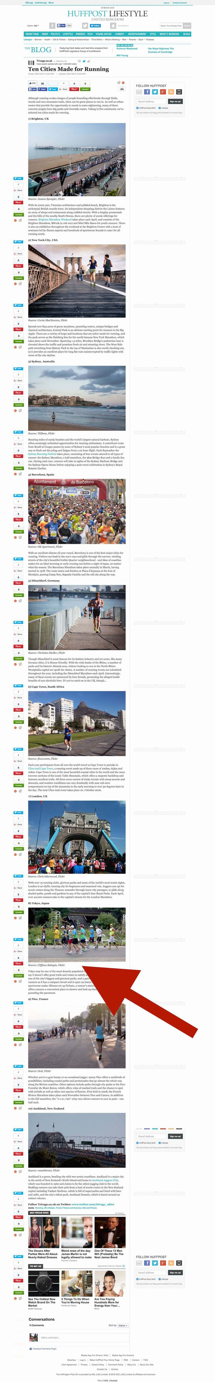 Huffington Post - Ten Cities Made for Running