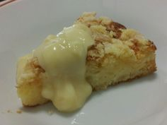 Low Salicylate Pear Streusel Cake (Nuttelex is margarine in AU, use butter instead)