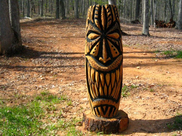Best images about tiki wood carving on pinterest