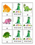 Uno card game with cute dinosaurs - reinforcing letter recognition.
