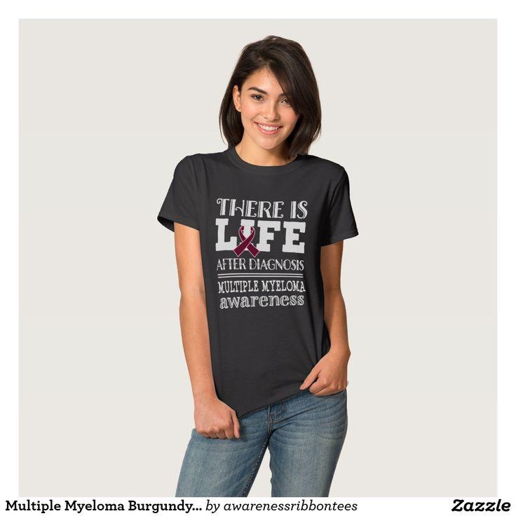 Multiple Myeloma Burgundy Ribbon Awareness T-shirt