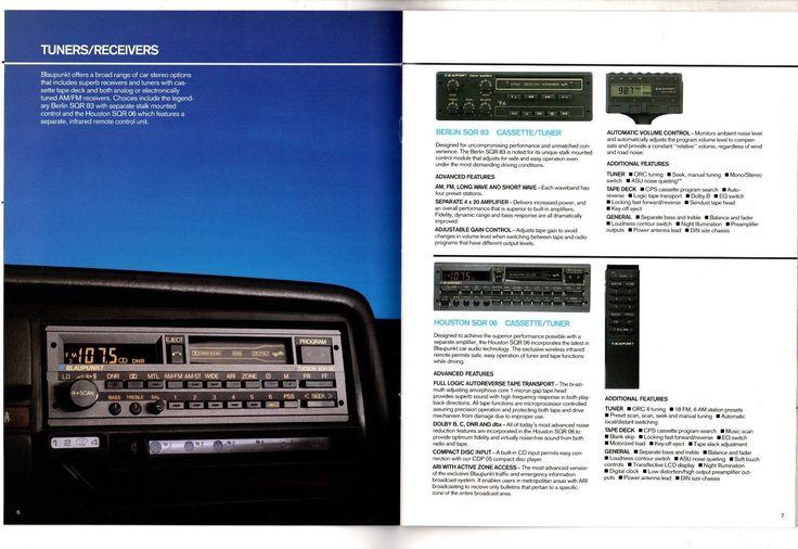 Car Audio 26 Page Brochure. Berlin SQR 83. Houston SQR 06. BEQ 65 - BEQ-FR - BEQ 80 - BEQ MS - BES 80 - BEA 40. CDP 05. Tucson SQR 06. Portland SQR 26. Denver SQR 26.   eBay!
