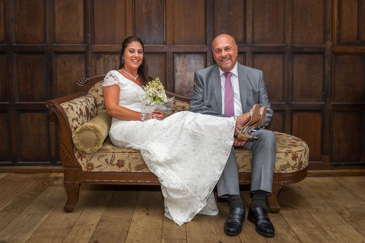 Wedding at the Archbishop Palace in Maidstone Kent. Photo of Bride and father.