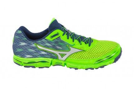 Wave Hayate 2 Bleu / Gris / Vert - Trail Chaussures - Mizuno