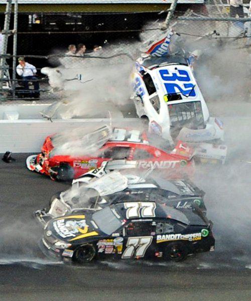 nascar jr crash