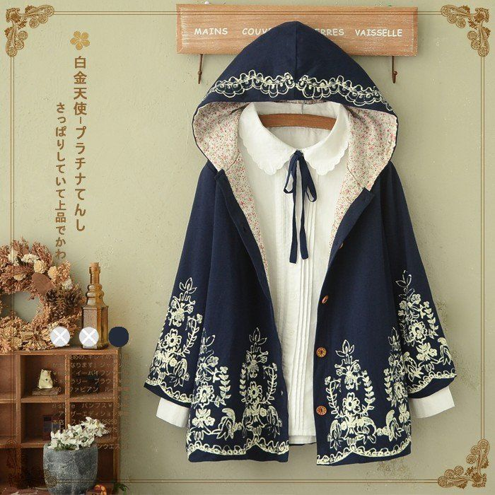 "use code: ""puririnhime"" to get 10% OFF everytime you shop at www.sanrense.com  Japanese harajuku printing hooded jacket SE8988"