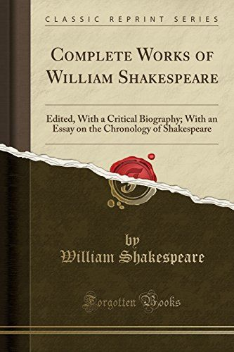 PDF DOWNLOAD Complete Works of William Shakespeare: Edited, With a Critical Biography; With an Essay on the Chronology of Shakespeare (Classic Reprint) Free PDF - ePUB - eBook Full Book Download Get it Free >> http://library.com-getfile.network/ebook.php?asin=1527694674 Free Download PDF ePUB eBook Full Book Complete Works of William Shakespeare: Edited, With a Critical Biography; With an Essay on the Chronology of Shakespeare (Classic Reprint) pdf download and read online