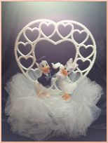 Donald Duck and Daisy Duck in White Cake Topper