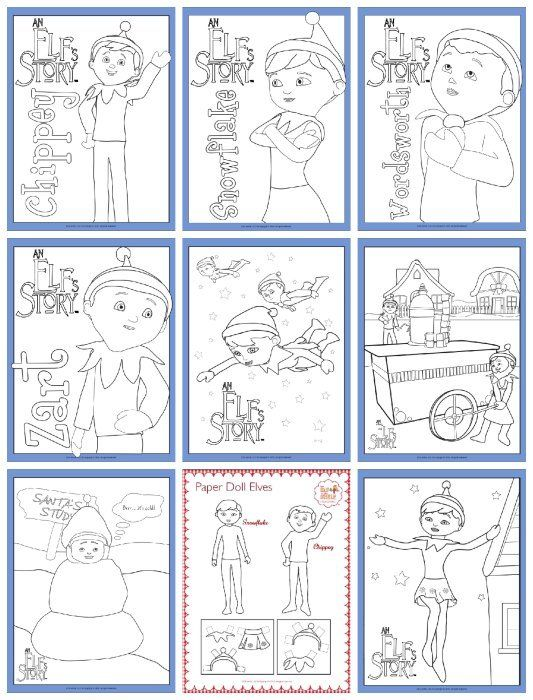 Elf On The Shelf Free Printable Coloring Pages Kids Christmas