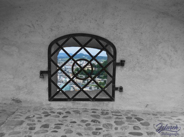 Doorkijkje over Salzburg (Photoshop)