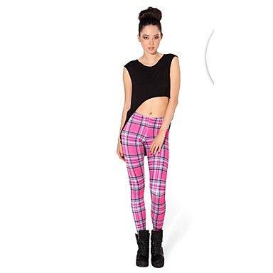 Kvinders Plaid Pink leggings – DKK kr. 81