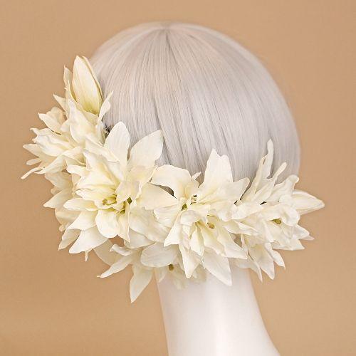 ウェディングヘッドドレス&花髪飾りairaka