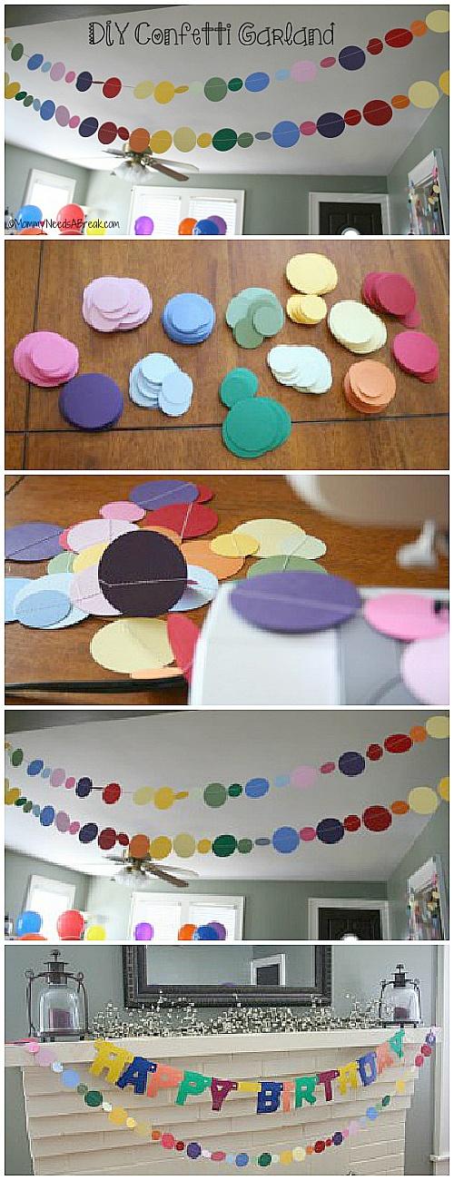 #DIY Confetti Garland
