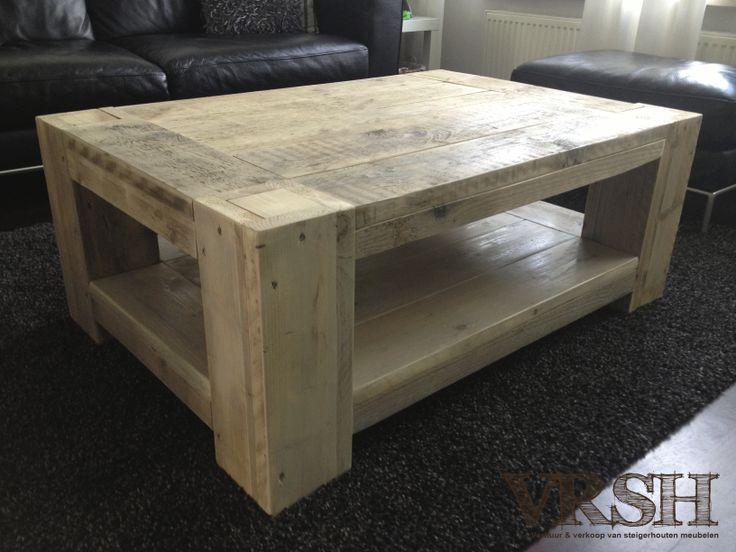 Sfeervolle salontafel steigerhout
