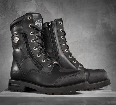 Harley-Davidson Men's Riddick Performance Boots. Excellent safety features, are well constructed for daily abuse, have zippered vents for all weather riding, and look great with any pair of boot-cut jeans.