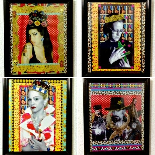 Collages✂. Cuadros. Amy Winehouse. Chus Lampreave. Madonna. Tino Casal. (Gloriarte143)