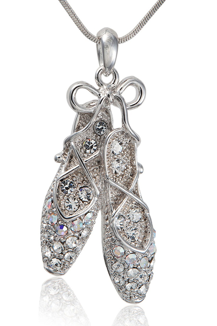 Crystal Point Shoe Necklace