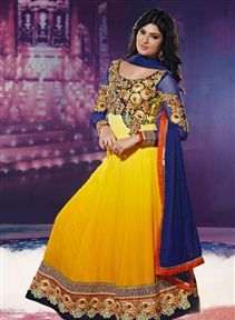 Sayali Bhagat Yellow Color Designer Anarkali Suit