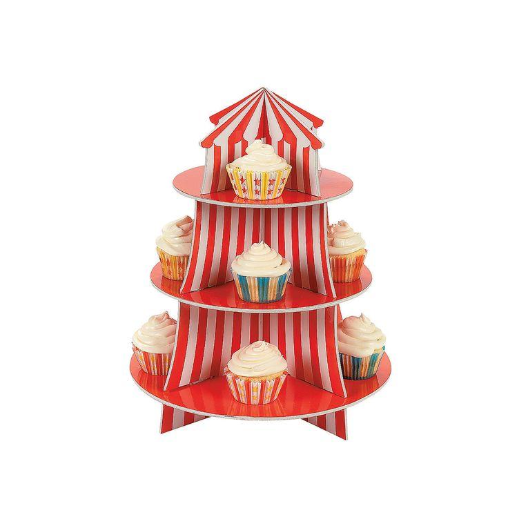 Big Top Cupcake Holder - OrientalTrading.com