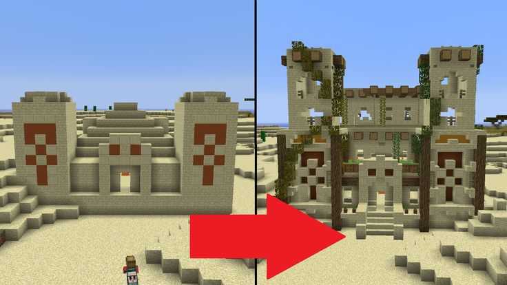 Let's Transform a Minecraft Desert Temple!