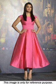 Bollywood Style Aishwarya Rai Shantoon Party Wear Stitched Dress In Pink Colour