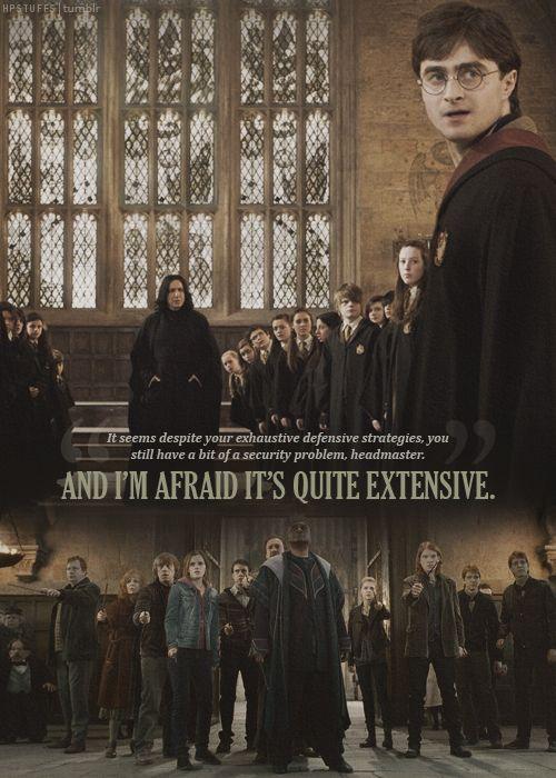 Harry Potter ... the battle of Hogwarts.