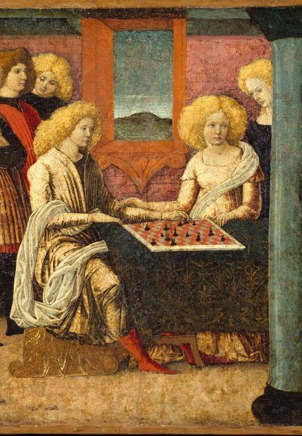 Liberale da Verona, The Chess Players, c. 1475 (detail), Met Museum
