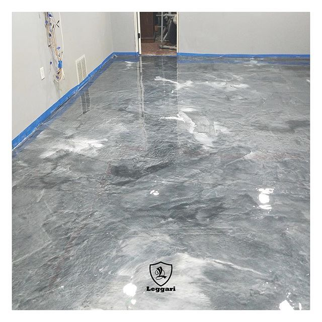 Check Out What Danny From Ohio Did Using Our Metallic Epoxy Floor Kit He Used A Silver Base With Pearl Wh Metallic Epoxy Floor Epoxy Floor Epoxy Floor Coating