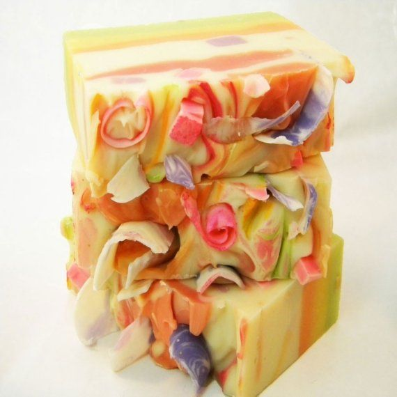 Tutti Fruiti Handmade Vegan Cold Process Soap by by svsoaps