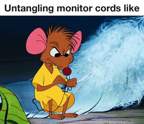 Untangling monitor cords like. 25 Gifs For Nurses That Show Our Lives In Hilarious Detail #nursebuff #nursegifs #nursehumor