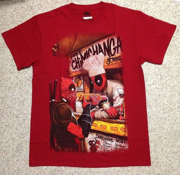 Funny DEADPOOL FREE CHIMICHANGA T-SHIRT Taco Bar Stand Maroon Marvel Comic ADULT #Marvel #GraphicTee